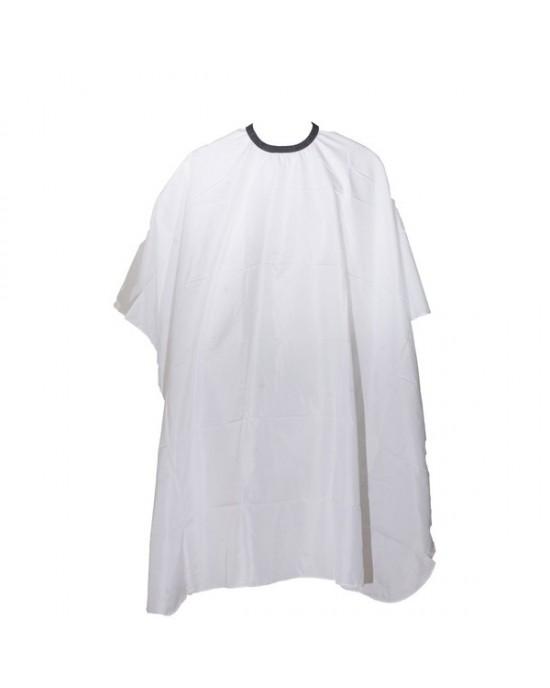 Μπέρτα κουρέματος   Με μεταλλικό κλιπ για κούμπωμα στο λαιμό  Χρώμα: λευκό