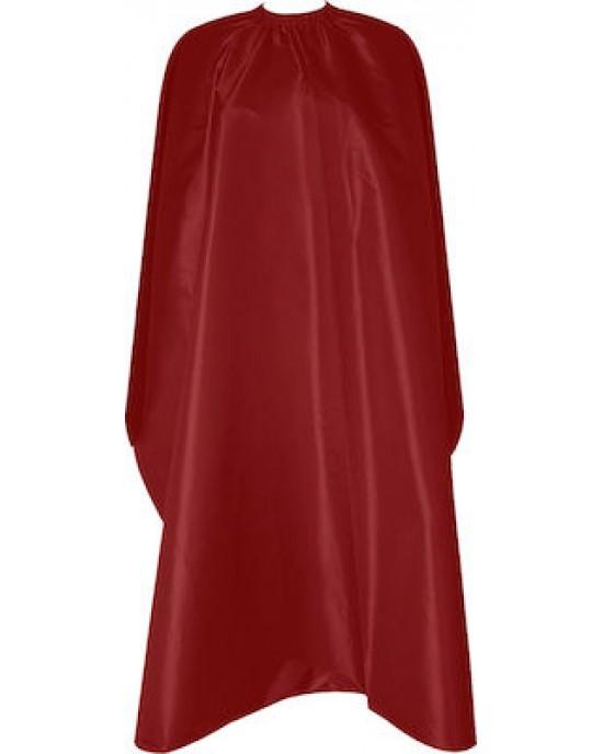 Μπέρτα κουρέματος  Με μεταλλικό κλιπ για κούμπωμα στο λαιμό Χρώμα: κόκκινο