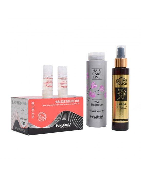 Συνδυασμός τριχόπτωσης.Hair Care Line Vital Shampoo Τα πολυδύναμα δραστικά συστατικά του τρέφουν και αναζωογονούν τα μαλλιά από τις ρίζες ως τις άκρες, βελτιώνοντας την πυκνότητα και αυξάνοντας το ρυθμό ανάπτυξής τους. Συγχρόνως ενισχύουν τους θύλακες των
