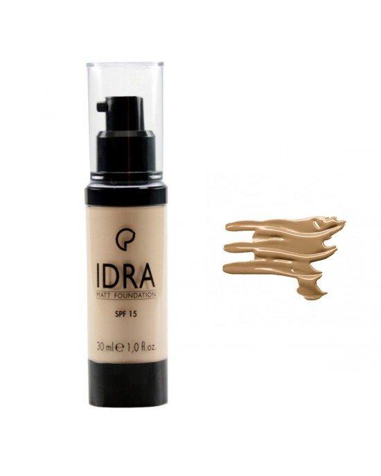 Για φυσικό αποτέλεσμα, εφαρμόζετε το make up idra χρησιμοποιώντας τα δάχτυλα σας. Εφαρμογή του make up idra, με τη χρήση σφουγγαριού η με το πινέλο ν. 106 θα δώσει μεγαλύτερη κάλυψη. Τελειώστε με loose powder face.