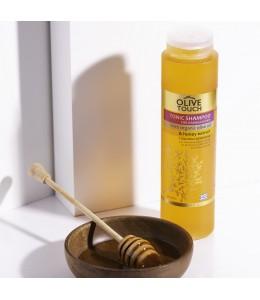 Σαμπουάν με βιολογικό Λάδι Ελιάς και εκχύλισμα Μελιού για Ταλαιπωρημένα Μαλλιά 300ml